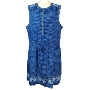 Gap Sleeveless Mix-Print Shirt Dress Size XXL